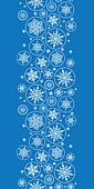 Falling Snowflakes Vertical Border Seamless Pattern Background