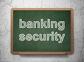 Protection concept: Banking Security on chalkboard background