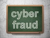 Safety concept: Cyber Fraud on chalkboard background