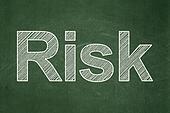 Finance concept: Risk on chalkboard background