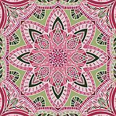 hand-drawn colored bandana - vector illustration