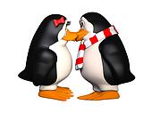 happy pinguins in love