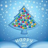 Fabulous winter snow Christmas tree