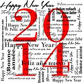 happy new year 2014 words in many l