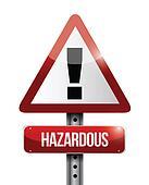 hazardous warning road sign illustration design