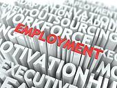 Employment. Wordcloud Concept.