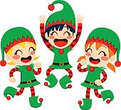 Santa Claus Helpers Dancing