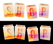Shop Banner Stock Image