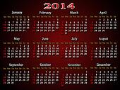 beautiful claret calendar for 2014 year