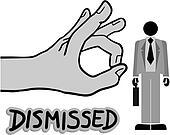 Dismissed man