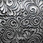 Metal Plate with carved pattern