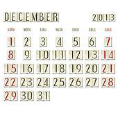 December 2013 - Calendar