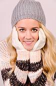 Winter girl smiling