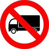 No lorry parking
