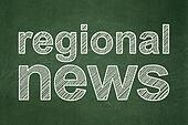 News concept: Regional News on chalkboard background