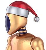 Robot Christmas Santa Claus cyborg