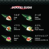 Hand roll sushi Temaki