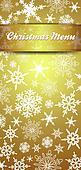 Christmas Menu Invite Snowflakes