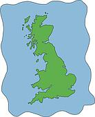 Vector Map of UK United Kingdom