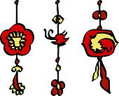 Chinese New Year Decorations Vector