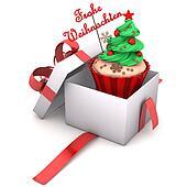 Gift Cupcake Merry Christmas