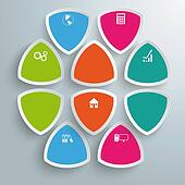 Round Triangles Infographic Company