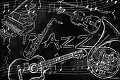 Jazz instruments music background