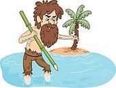 Stranded Man Fishing