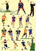 Few kinds of sport games. Football,