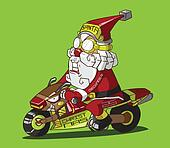 Christmas delivery. Santa Claus