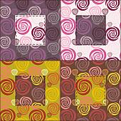 patchwork background with roses