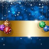 Holiday Blue Xmas Greeting Card