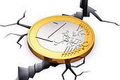 Crisis in European Union concept