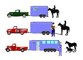 horses and trailers