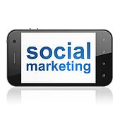Social Marketing on smartphone