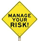 Manage Your Risk Management Yellow Warning Sign