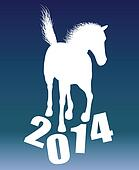 New year horse 2014