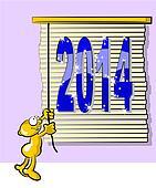 Venetian blind. 2014 new year