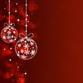 Holiday Red Xmas Greeting Background