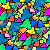 seamless texture triangle kaleidoscope of colorful