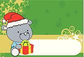 rhino xmas baby claus gift bg