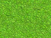 Floor with green pebble mosaic