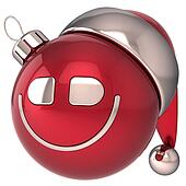 Christmas ball smiling New Year joy