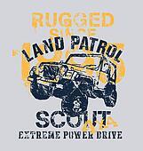off road car 4x4 land patrol