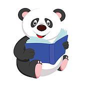 panda reading