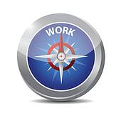compass guide to work illustration design
