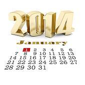 happy new year 2014 Illustrations 3