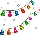 Christmas lantern. Garland.