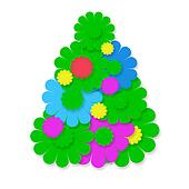 funny hippie Chtistmas tree card