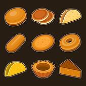 Baking icon set